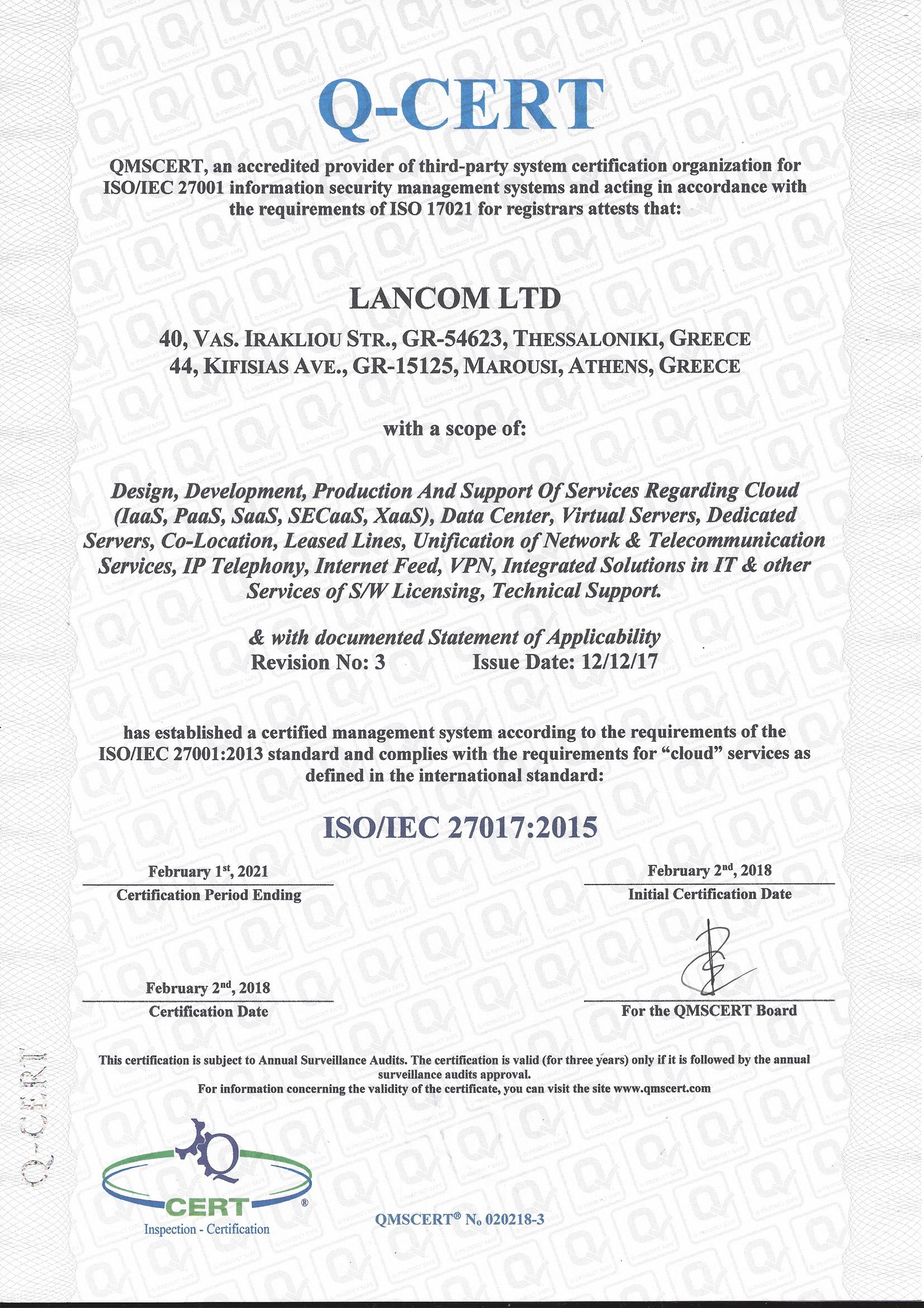 Certifications Lancom